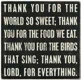 Thank You Lord For Everything Box Sign