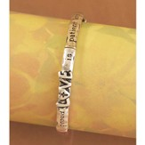 Love Is Patient Bracelet, Tri-Color, Small
