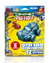 Crayola Melt 'n Mold Crayon Cruiser, Metallic Mayhem