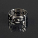 Faith Ring, Black, Size 8