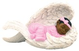 Baby Girl in Angel Wings Figurine