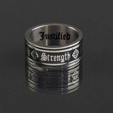 Strength Ring, Black, Size 11