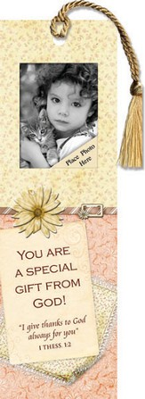 You Are A Special Gift from God Photo Bookmark