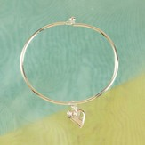 Reunion Heart Bangle Bracelet