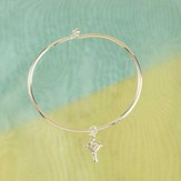 Cross My Heart Bangle Bracelet