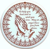 Monica's Prayer, Porcelain Bread Warmer
