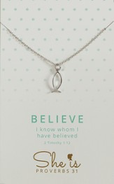Believe, Ichthus Necklace