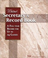 Secretary's Record Book (24 Classes)