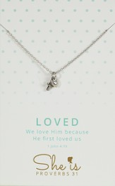 Loved, Cross & Heart Necklace