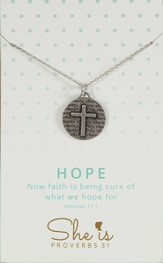 Hope, Circle Cross Necklace