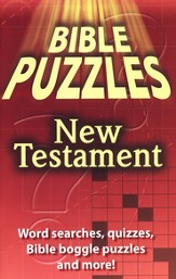 Bible Puzzles, New Testament Puzzle Activity Book (8-10)