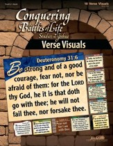 Joshua: Conquering the Battles of Life, Youth 2 to Adult Bible Study, Key Verse Visuals