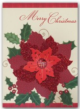 Merry Christmas, Poinsettia Christmas Cards, Box of 12