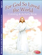For God So Loved the World Easter Coloring Activity (6-10)