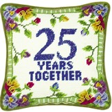 25 Years Together Pillow