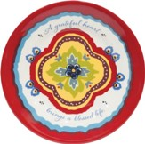 A Grateful Heart, Melamine Plate