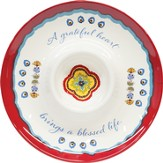 A Grateful Heart, Melamine Chip and Dip Plate