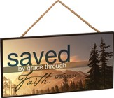 Saved By Grace Hanging Sign