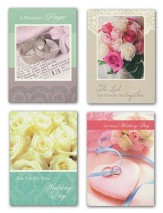 Rings and Flowers Wedding Cards, Box of 12