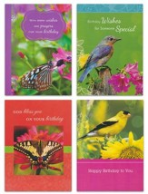 Birds and Butterflies, Birthday Cards, Box of 12