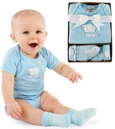 Lamb Boxed Set, Romper and Socks, Blue