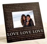 Love Metal Message Photo Frame