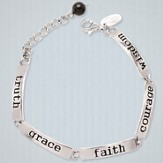 Truth, Grace, Faith, Courage, Wisdom Word Bracelet