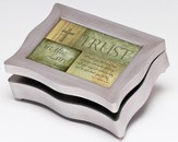 Music Box with Trust in the Lord Cover, with Digital Music Compartment