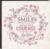 Count Your Smiles Wall Plaque, Small