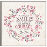 Count Your Smiles Wall Plaque, Large