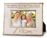 Mom, Her Children Stand and Bless Photo Frame