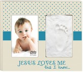 Jesus Loves Me This I Know Photo Frame, Blue