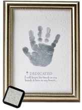 Dedicated Handprint Framed Print