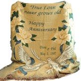 Personalized, True Love Never Grows Old Tapestry Throw