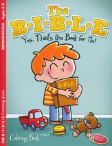 The B-I-B-L-E Coloring Book, Ages 2-5