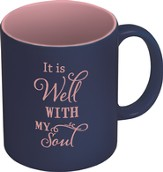 It Is Well With My Soul Mug, Navy and Pink