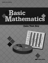 Basic Mathematics Quizzes/Tests Key