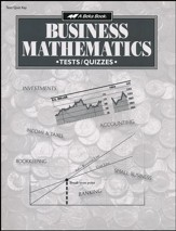 Business Mathematics Tests, Quizzes & Speed Drills Key