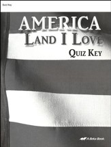 America: Land I Love Quizzes Key