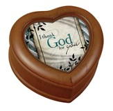 I Thank God For You Heart Shaped Music Box