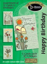 Sunflower and Mailbox Birthday Cards, Box of 12