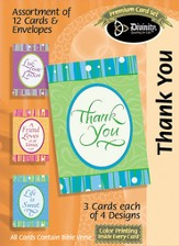 Sweet Words hank You Cards, Box of 12