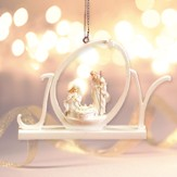 White Word Ornament, Joy