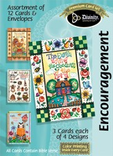Patchwork House Encouragement Cards, Box of 12