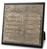 Placa con Escultura Diez Mandamientos  (Ten Commandments Sculpture Plaque)