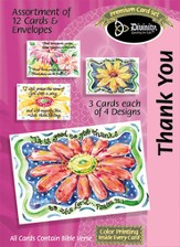 Daisy Thank You Cards, Box of 12