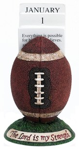 Football Scripture Holder Calendar