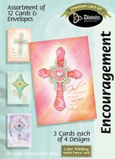 Paper Crosses Encouragement Cards, Box of 12