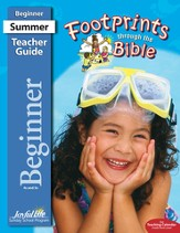Footprints through the Bible Beginner (ages 4 & 5)  Teacher Guide