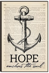 Hope Anchors the Soul Wall Art
